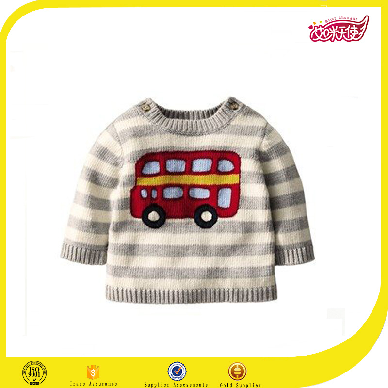 Red bus carton sweater designs pictures computer knitted hand knitting pullover cardigans sweater designs for kids hand knitted