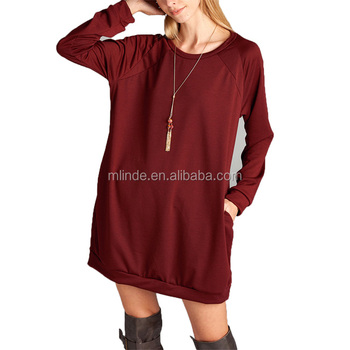Hoodie Dress Wholesale Bulk Buy Custom Blank Plain Burgundy Plus ...