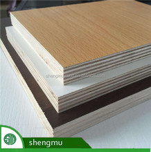E1 grade wooden color melamine plywood for furniture from China