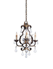 Currey and Company 9829 Tuscan 3-Light Chandelier