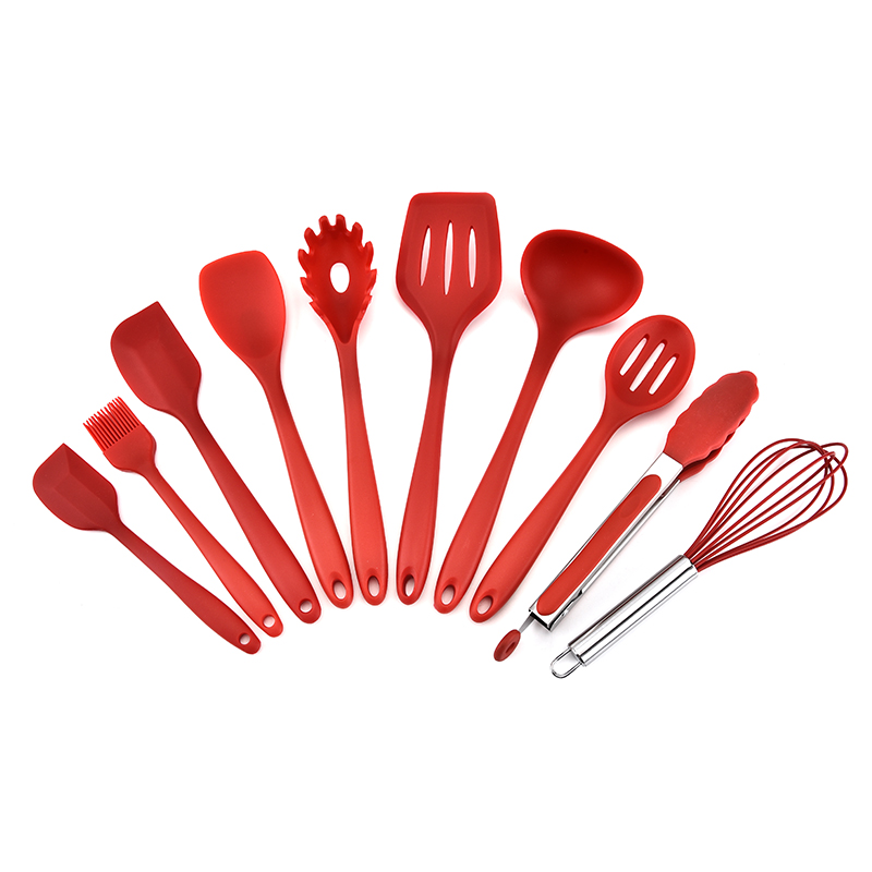 Alibaba.com / Eco-friendly Hot-selling Good Quality Silicone and stainless steel Kitchen utensil Set/10