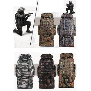 Mountaineer Bag Outdoor Camping Hiking Camouflage Backpack Waterproof Cover Military Bag
