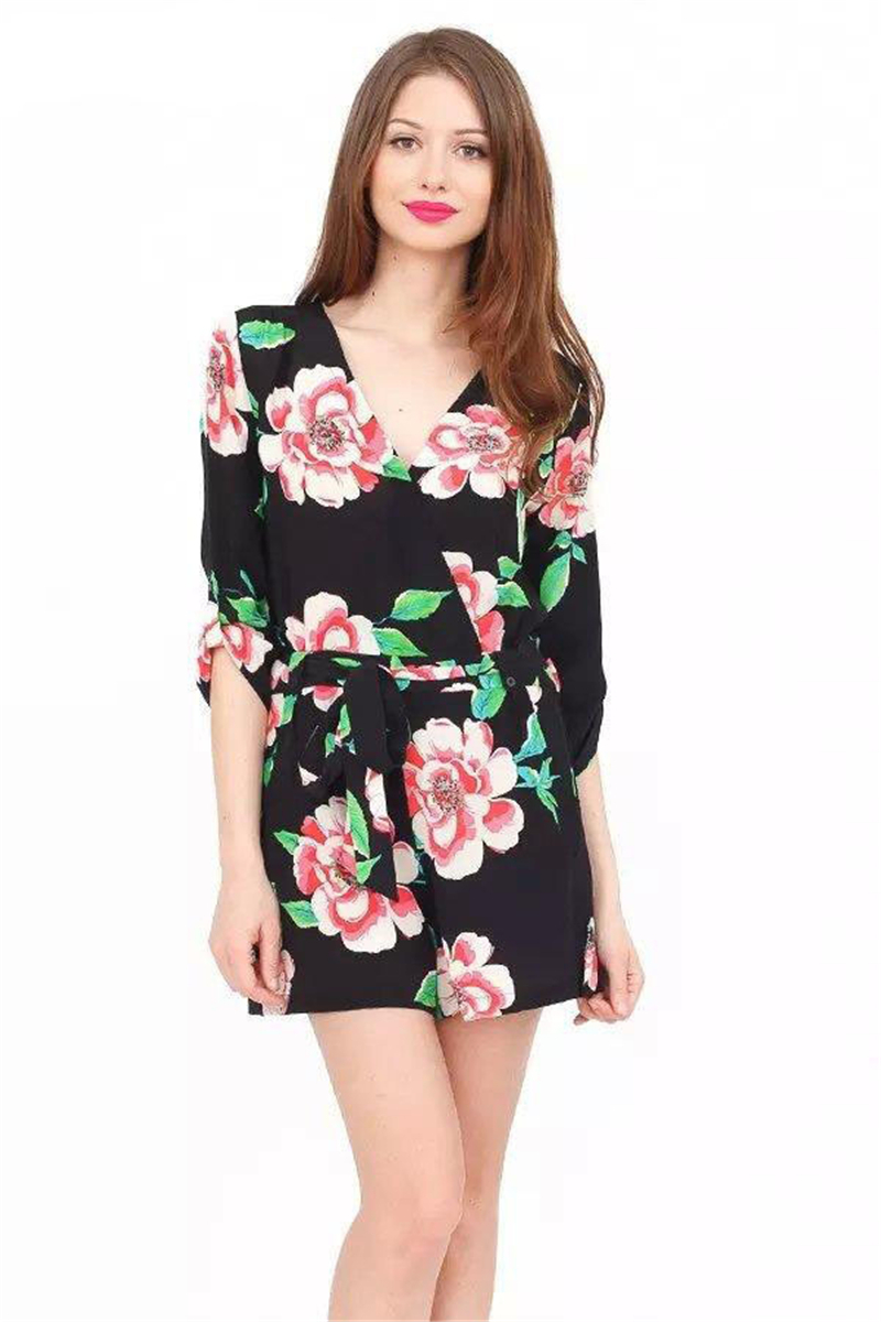 dcd6d6b4054d Get Quotations · 2015 Autumn Casual Sexy Rompers 3 Colors Deep V-neck  Cotton Polyester Spandex Full Sleeve