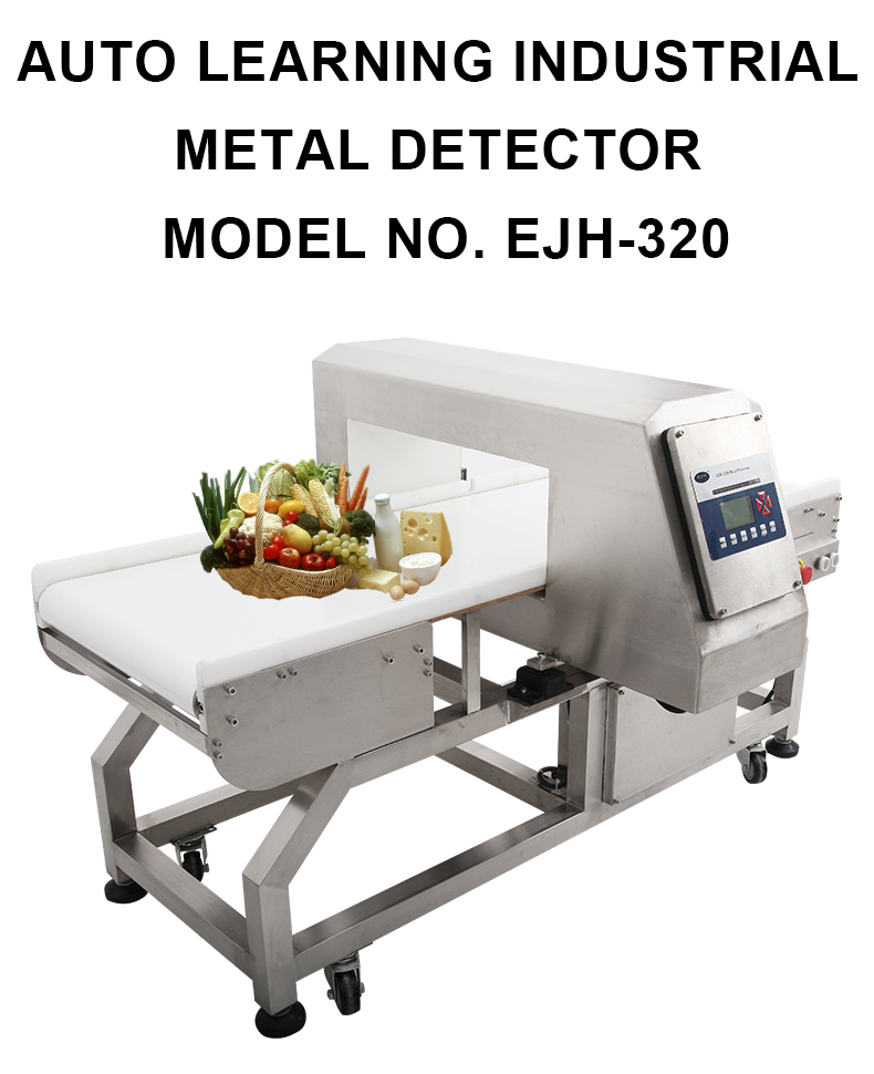 New technology industrial conveyor belt metal detector for food packaging