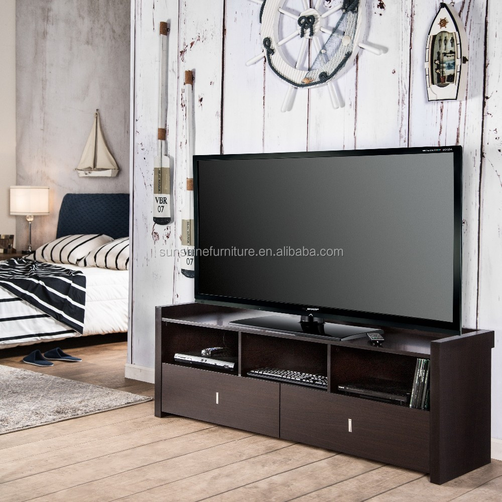 Modern Wooden Black/walnut/white/brown Up To 60' Led Tv Stand ...
