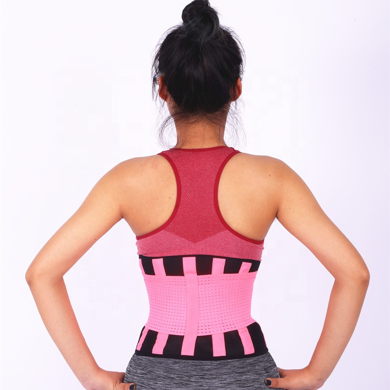 S-XXL neoprene waist shaper trainer belt for body slimming, Black+red/pink/blue/rose red;customized color is available