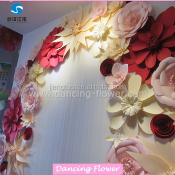 Hot Sale Attractive Paper Flower For Wedding Arch Buy Flower Arch For Wedding Artificial Flowers For Sale Wedding Paper Flowers Product On