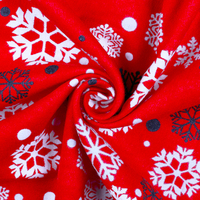 Wholesale Custom Christmas Pattern Soft 100% Cotton Printed Flannel Fabric with Cheap Price