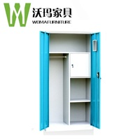 Inner room swing door wall units classical home office steel dressing cupboard