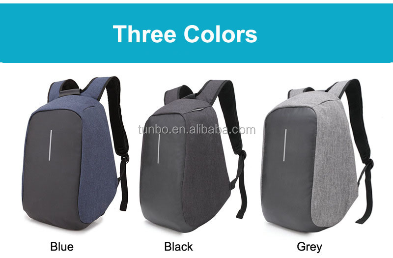 Outdoor Travel Laptop Waterproof anti theft backpack with USB Charging