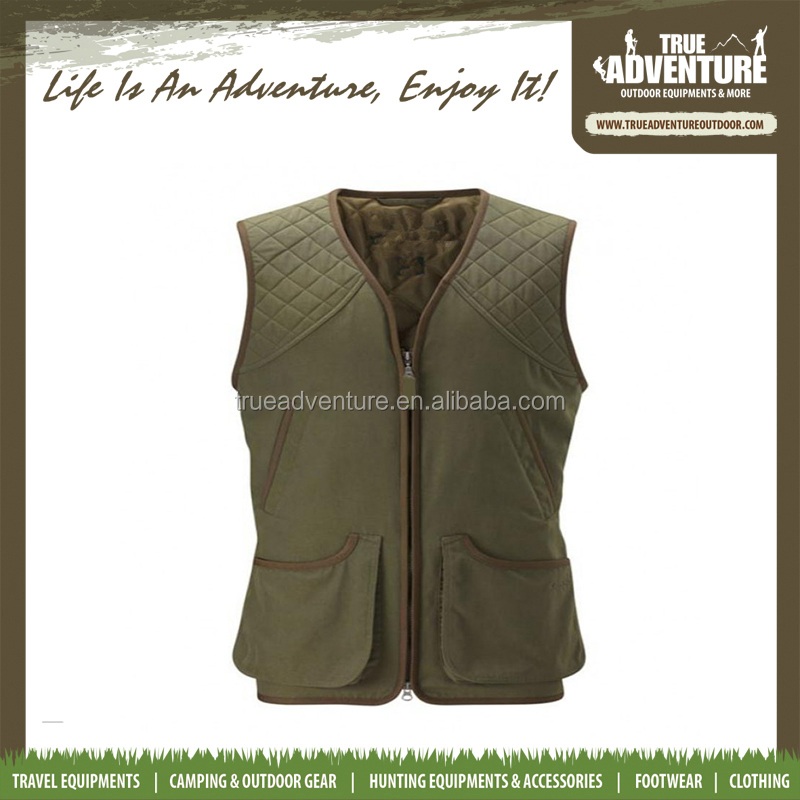 China Hunting Accessories supplier OEM mens CAMO GREEN ORANGE hunting vest