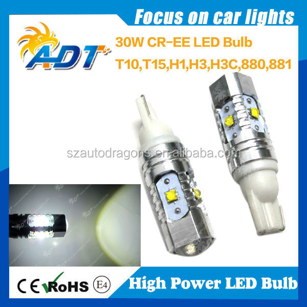 News! auto part CR.EE XBD LED 30W 501 T10 W5W #555 194 168 2825 LED bulbs car accessories