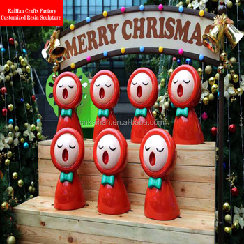 large fiberglass shopping mall christmas decorations