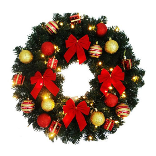 New Year 60cm Christmas Wreath 4 Colors Merry Christmas Christmas Tree Decoration Gifts Store Decoration Adornos Navidad 2016