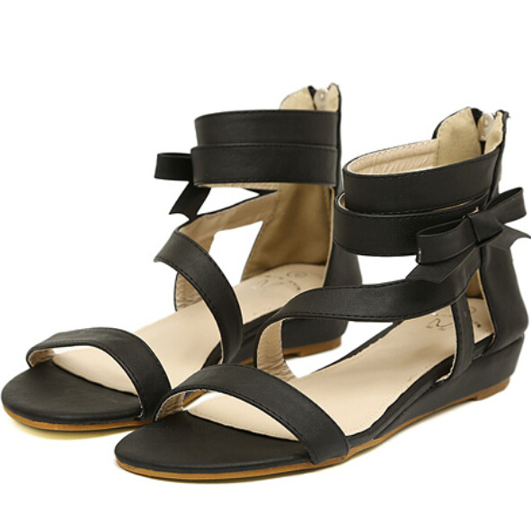 299ca141a969c5 Sexy Wedge Sandals Open Toe Casual Platform Sandalias Flat Summer Style Woman  Shoes Pu Leather 2015 New Sexy Wedge Sandals