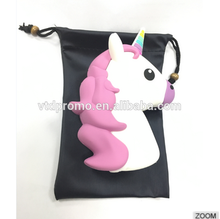 2016 new PVC unicorn shape style power ,new horse shape power bank, 2016 hot selling power bank