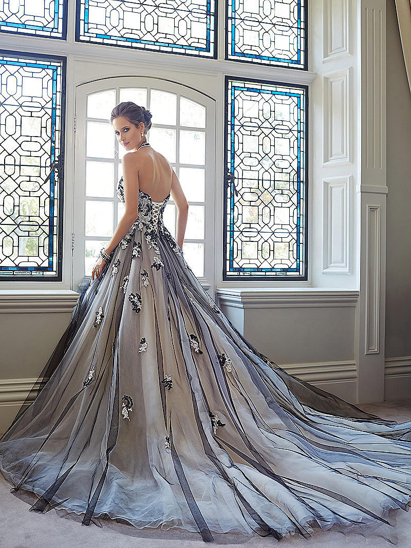 513e4cc8a31 Ball Gown Tulle Black And White - Gomes Weine AG