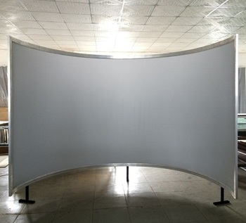 2D front projection 3D silver or Rear film projection 180 degree 360 degree simulation curved projection screen