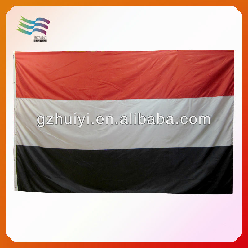 100% Custom Polyester Yemen National Flag