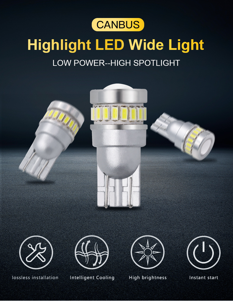 canbus lamp T10 18SMD3014 1SMD3030 car led bulb