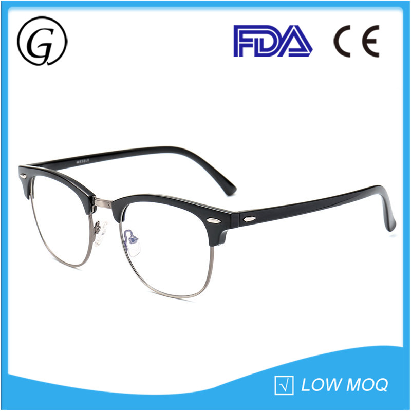 High Quality Half Frame Changeable Temple Wholesale Lightweight Eyeglasses Frame