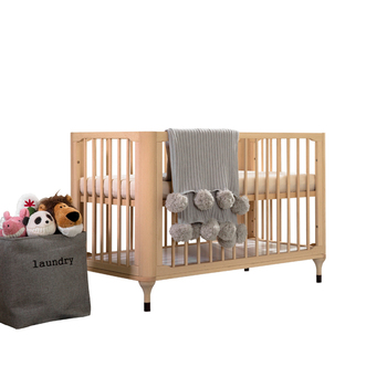 Natural Color Portable Bed Side Crib With Multifunction