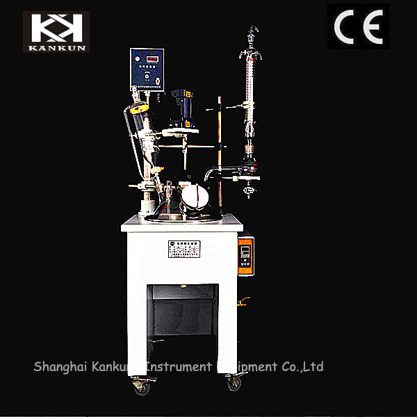 Factory price jacketed glass pilot reactor
