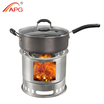 APG Portable Outdoor Folding Mini Wood Burning Stove
