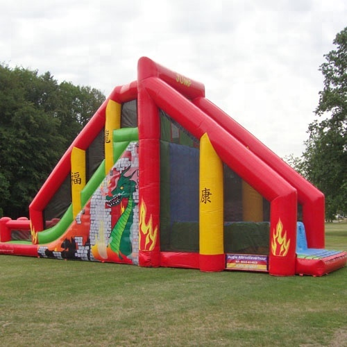 High quality Jungle inflatable base jump/jump off/ cliff jump slide for sale
