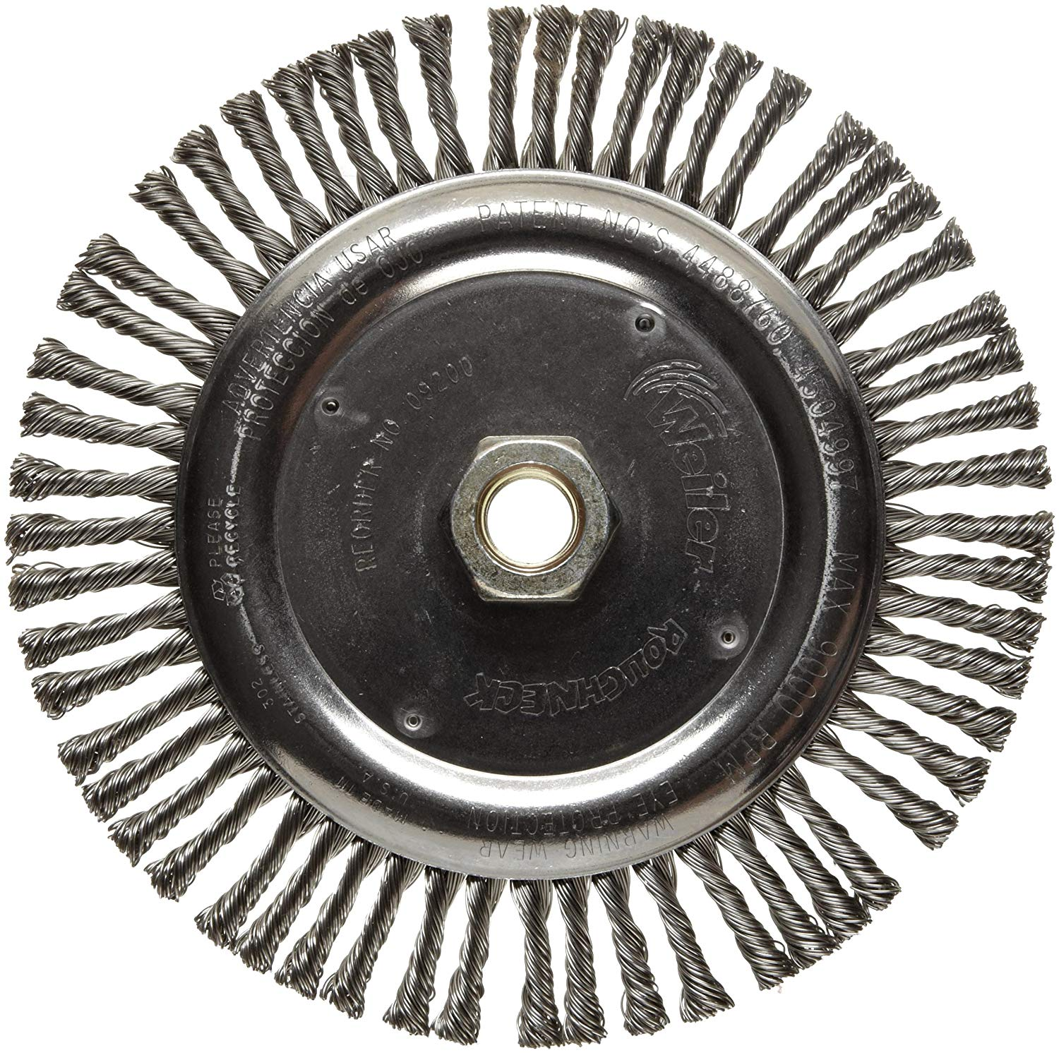 Round Hole 1//2-3//8 Arbor Crimped Wire 0.0118 Wire Diameter Stainless Steel 302 1//2 Brush Face Width Weiler Trulock Narrow Face Wire Wheel Brush 12500 rpm 4 Diameter 7//8 Bristle Length