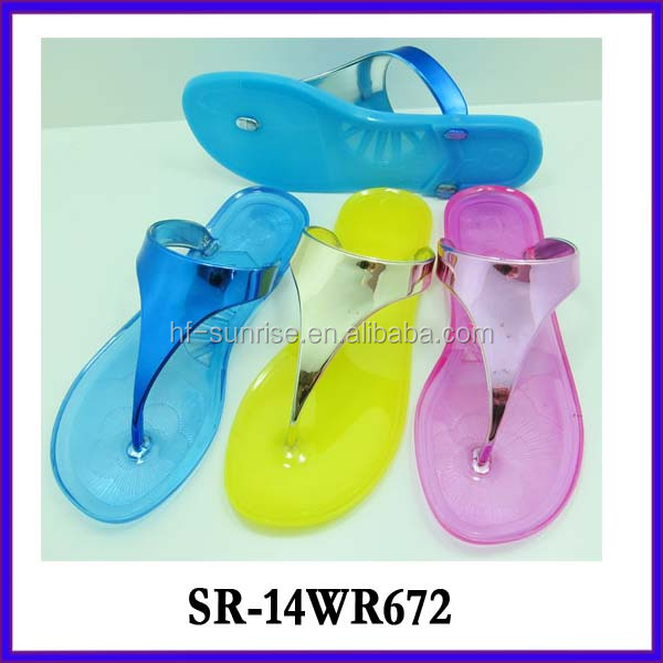 Sr-14wr672 Ladies Pvc Slippers Women Plastic Slippers Wholesale ...