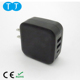 18W PD Type-c Port and Dual 5V2.4A USB Port Portable Wall Charger For Macbook iPhone Android