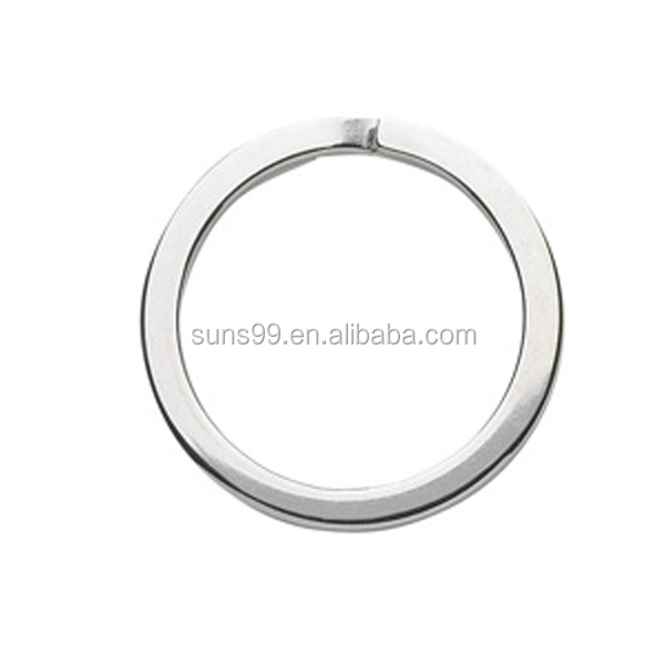 High Polished Stainless Steel Flat Split Key Ring Np 1.25in 33mm