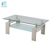 glass wood mdf modern home coffee table