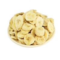 Natural freeze dried banana chips without surgar