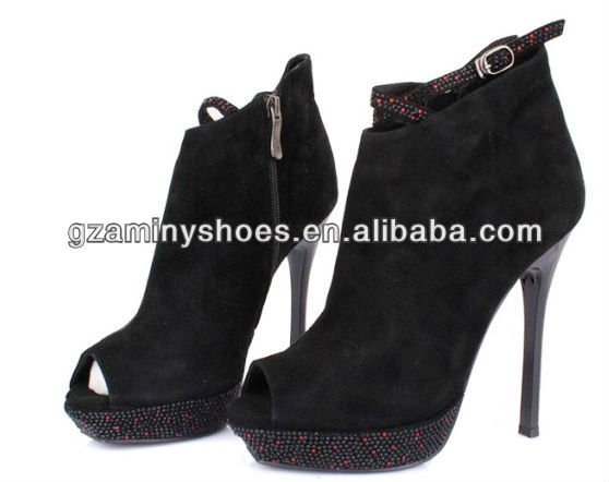 shoes heel bootie High leather genuine xYRIwOnq8