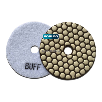 White Buff Dry Polishing Pads For Granite Floor