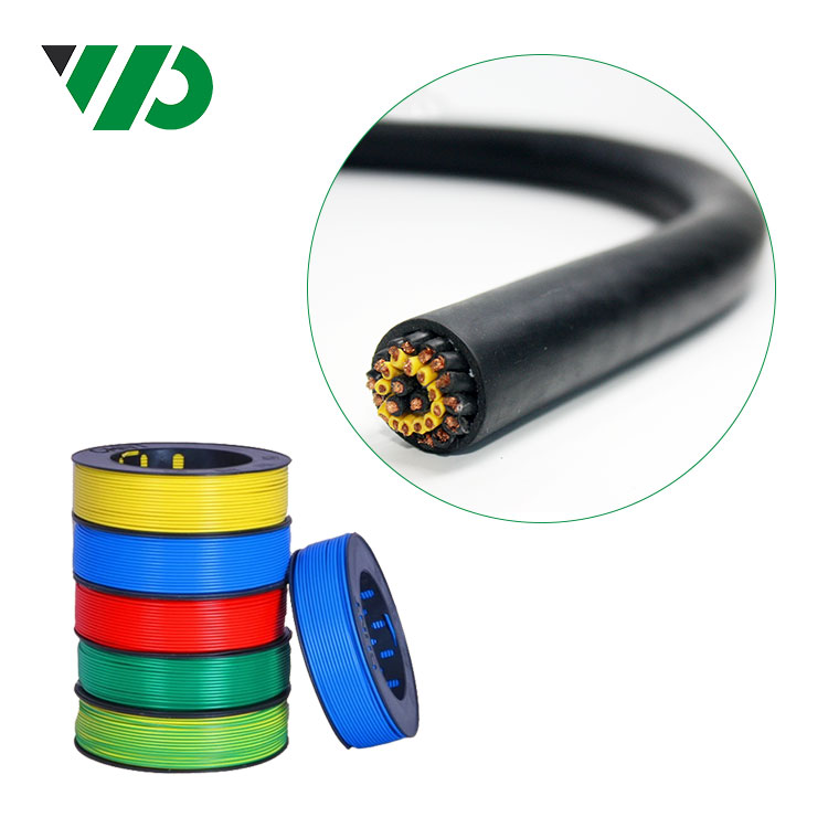 Flexible Stranded DC Wire Flat Multi Cores Flexible Silicone Cable