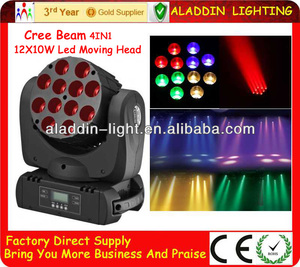 120W 12LED RGBW LED Moving Head Spot Beam Stage Party DJ Light DMX512 Lighting