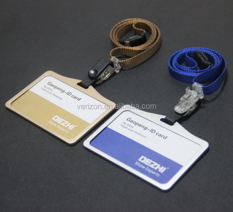 Hot Sale Cheap Aluminium Alloy Plastic Id Card Badge Holder
