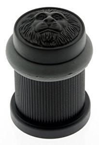 IDH by St. Simons 13090-10B Lion Head Bullet Bumper Door Stop
