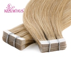 K.S WIGS Remy Human Hair Tape Extensions 12 Inch Straight Tape Hair Tape Adhesive Hair Extensions