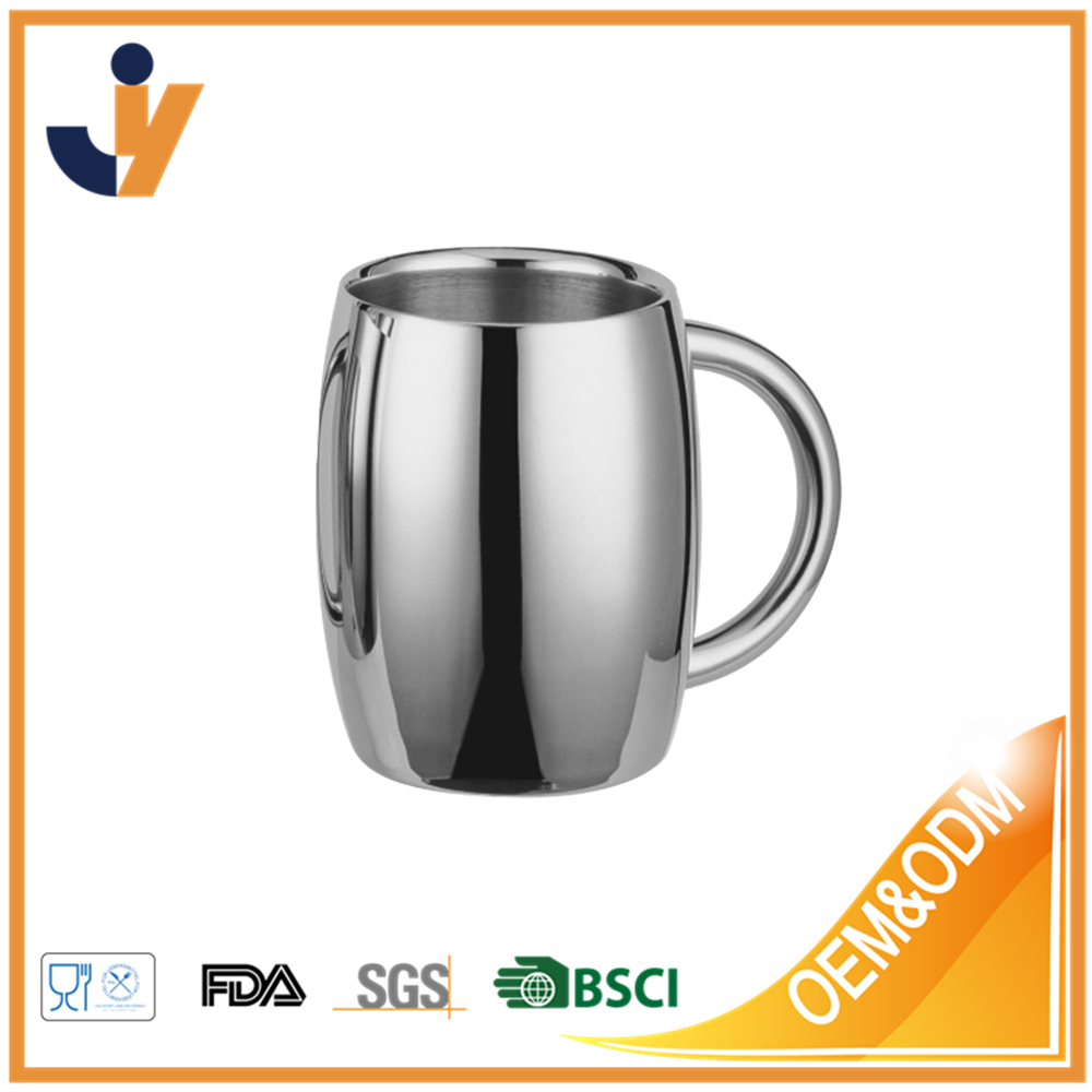 Best Selling Stainless steel beer mugs metal polished drinking cup