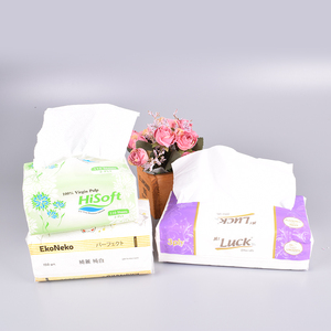 Wholesale flat box big soft plastic pack cube box paper facial tissue