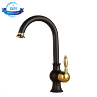 Wholesale bathroom brass faucet black & gold painted basin kitchen sink water taps 8151B