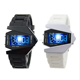 Foreign trade hot selling personalized LED colorful lights airplane watch digital men and women students multi functional watch