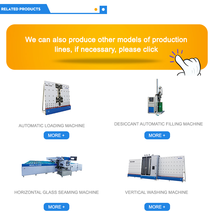 horizontal automatic butyl extruder glass machine price for ig