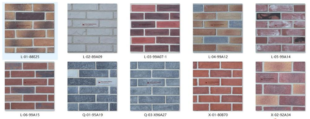 Retail faux brick wall veneer