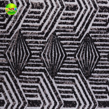 2017 black 100 polyester sequin mesh embroidery lace fabric