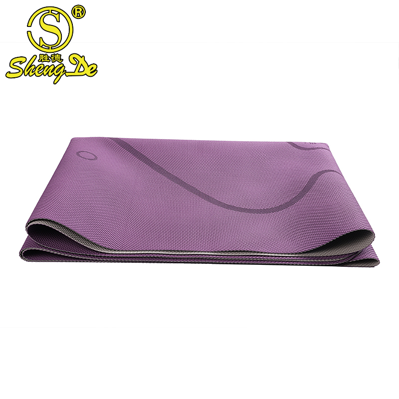 eco friendly anti-slip GYM fitness natural rubber folding yoga mat supplier